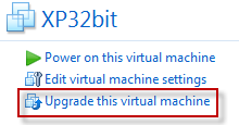 Upgrading VMs within VMware Workstation 8
