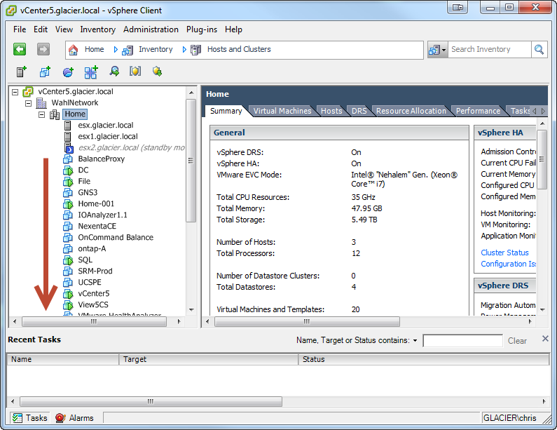 "Removing VM Clutter From The vSphere Client ""Host And Clusters"" View"