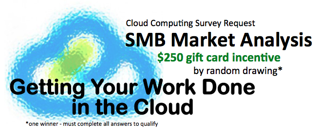 SMB Cloud Survey and Gift Card Incentive
