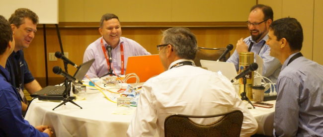 Behind the scenes during the Packet Pushers podcast with Cisco's IPv6 team