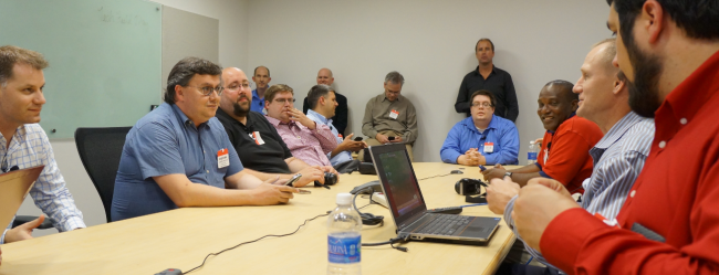 The Dell team discusses AppAssure with the TFD9 delegates