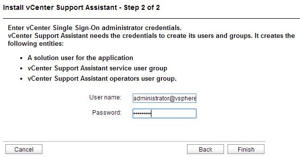 Providing the SSO admin credentials
