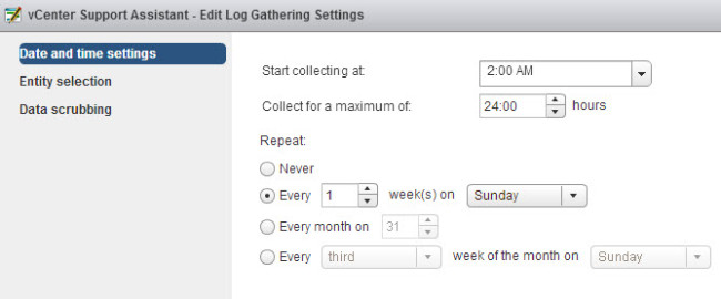 Configuration for my log gathering activities