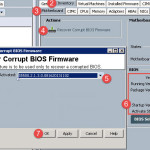 Laying down a fresh copy of BIOS firmware
