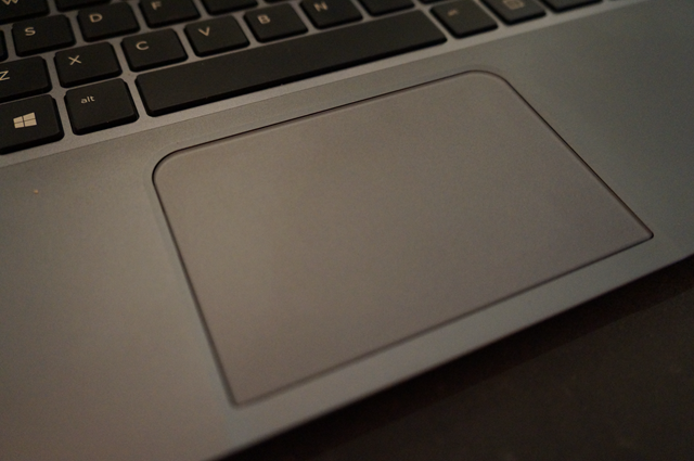 The touchpad is big and multi-gesture enabled.