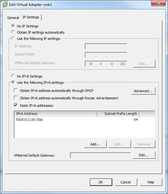 IPv6 on vmk1