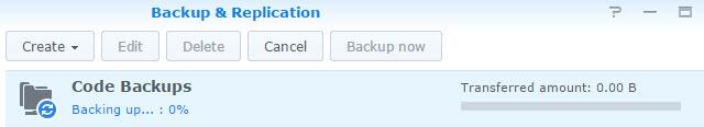 Starting a Backup