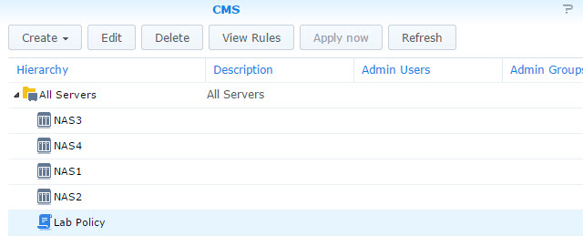 CMS Group Policy Hierarchy