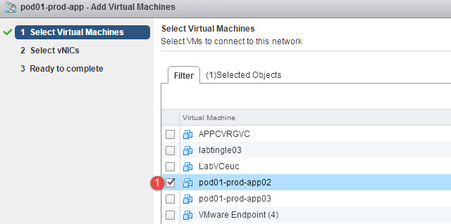 Select the VM