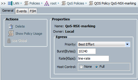 NSX QoS Policy
