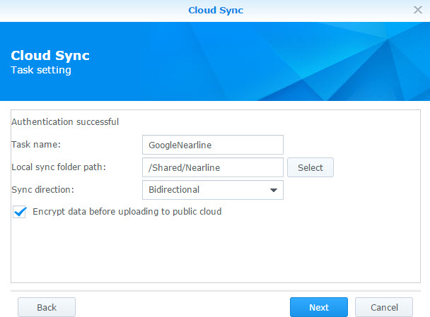 cloud-sync-task-setup