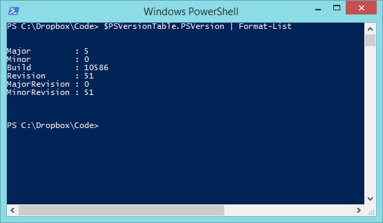 powershell-version-5