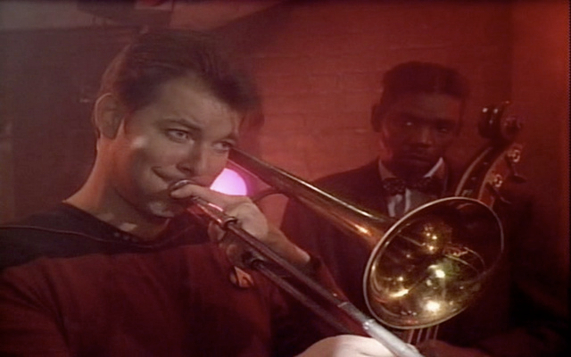 Riker loves to play the sad trombone