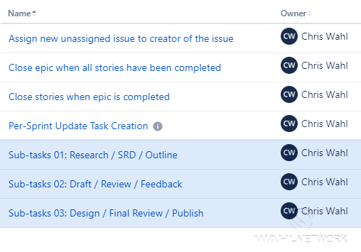 Jira automation is one way to drive consistency in your sprint tasks